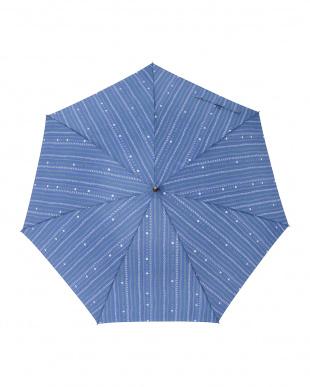 キャレネイビー レジェ ワンタッチ軽量スリム傘見る