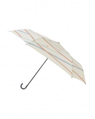 ツイギークリーム レジェ フラット折りたたみ傘見る
