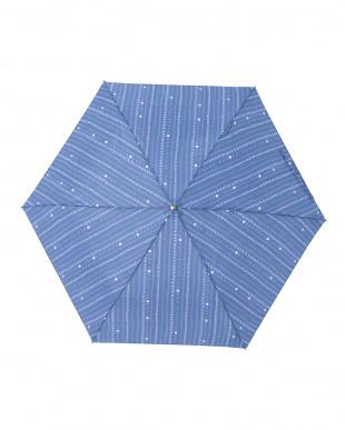 キャレネイビー レジェ フラット折りたたみ傘見る