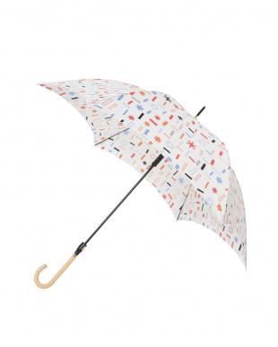 トゥインクル ホワイト 軽量スリムジャンプ傘(デザイン)を見る