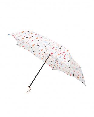 トゥインクル ホワイト 軽量折りたたみ傘(デザイン)を見る