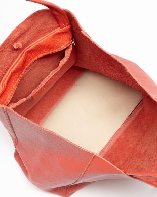 オレンジ シンプルトートバッグを見る