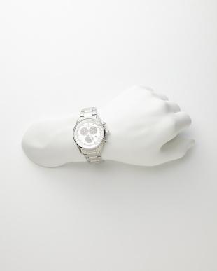 シルバー シルバー/ホワイト系 Eco-Drive クロノグラフ時計を見る