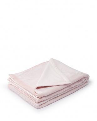 ピンク シール織コットンブランケット(毛羽部分) フローラ見る