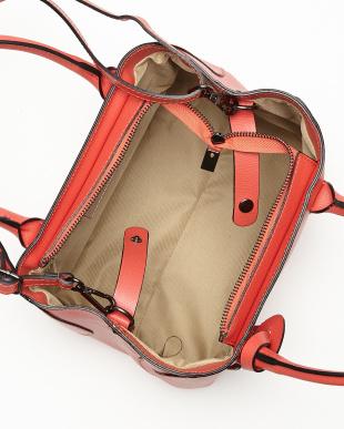 コーラル ショルダー付きシンプルハンドバッグ見る