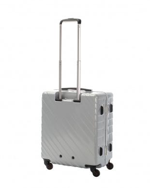 シルバー ナロースクエア M 55L スーツケース見る