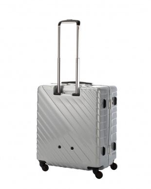 シルバー ナロースクエア L 80L スーツケース見る