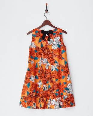orange pattern CATULLO プリントワンピースを見る