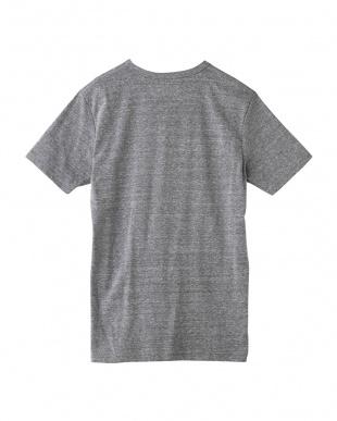 グレーモク 杢調VネックTシャツ見る
