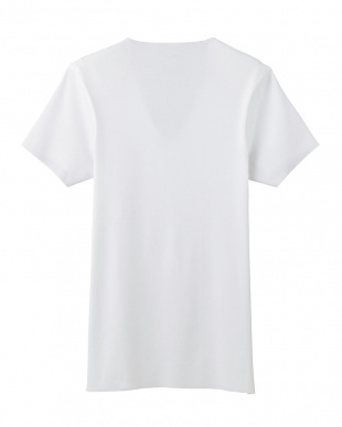 ホワイト カットオフ仕様VネックTシャツ見る