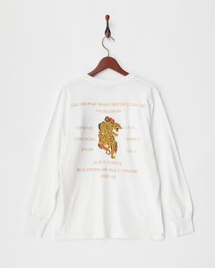 WHITE スーベニア刺繍 L/S Tシャツ(虎)見る