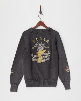 BLACK 刺繍C-2セーター見る