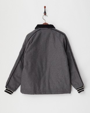 GREY PATCH MELTON COACH JACKET見る