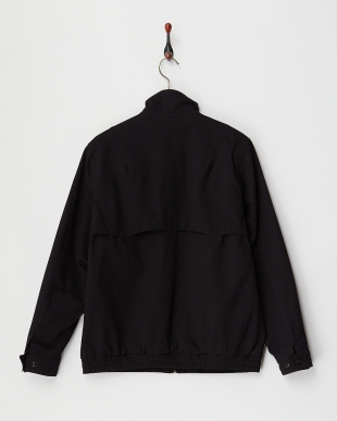 BLACK COTTON TWILL DRIZZLER JKT見る