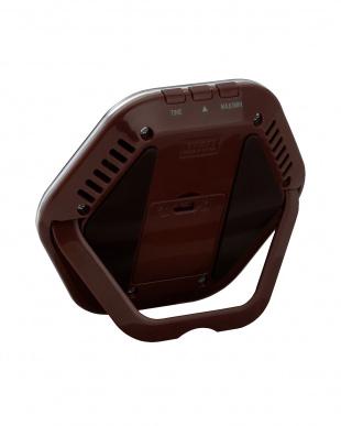 ブラウン デジタル温湿度計 TT-573見る