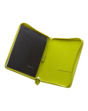 ライムグリーン サフィアーノジップ タブレットケース スモールサイズ見る
