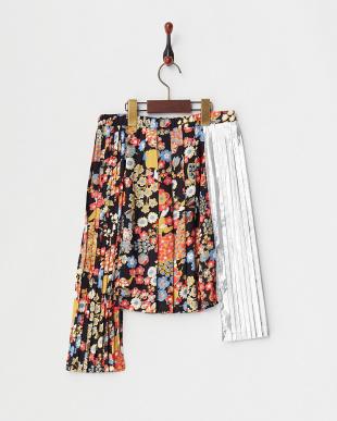 418 ブラックマルチ Skirt メタリック切替イレヘム(34~)見る