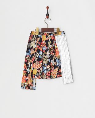 418 ブラックマルチ Skirt メタリック切替イレヘム(~32)見る