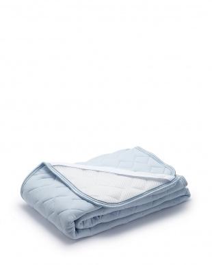 ブルー 東京西川の接触冷感寝具 クールパッドシーツを見る