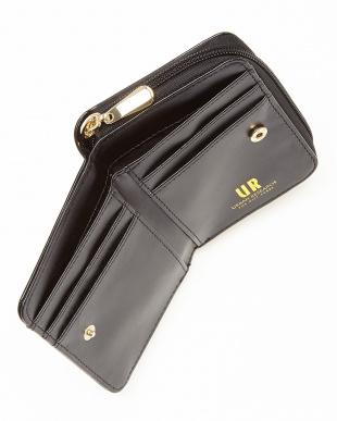 ブラック ジップ二つ折り財布 WOMENを見る