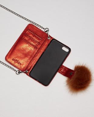 RED キラキラiPhone7ケース見る