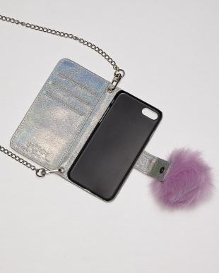 SILVER キラキラiPhone7ケース見る