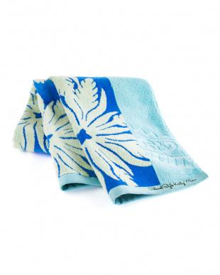 ジンジャー ブルー ラハイナシリーズ ハワイアンキルト柄 スマートバスタオルを見る