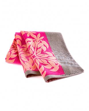ヘリコニアブラウン ラハイナシリーズ ハワイアンキルト柄 スマートバスタオルを見る