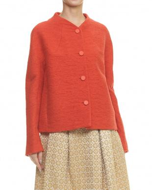 赤 レッド 切り替えデザイン袖ジャケットを見る