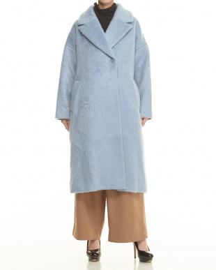 L.BLUE ロングシャギーコート見る