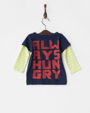 ネイビー カラートップテンジク MONSTER BABY TEE|BABYを見る