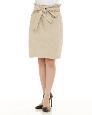 ライトグレー ウエストリボンスカートを見る