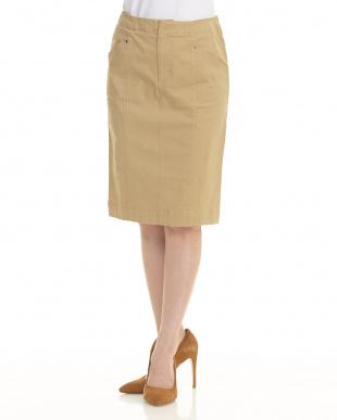 ベージュ チノタイトスカートを見る