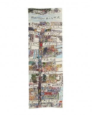 ミックス 「NY18丁目の全て」カシミヤ混ウールストールを見る