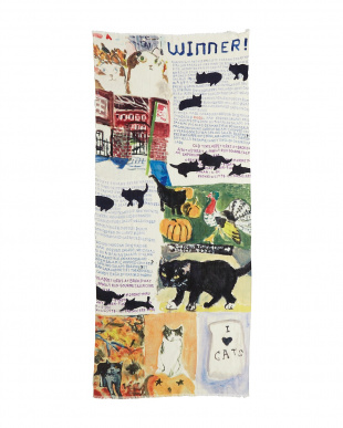 ミックス 「NY猫絵暦10月と11月」ウールストールを見る