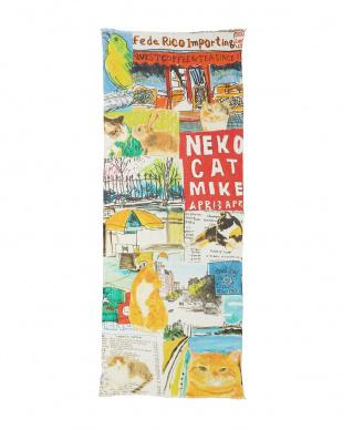 ミックス 「NY猫絵暦グッドシーズン」カシミヤブレンドストール見る