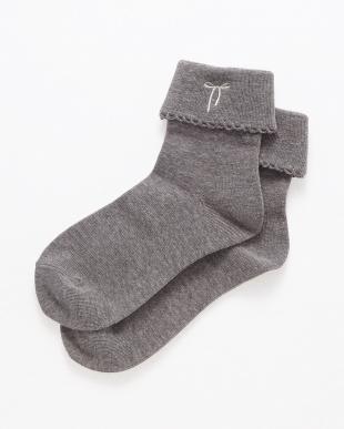 グレー Socks リボン刺繍 ENFANTを見る