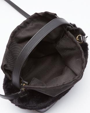 ブラック エコファーバケツ型バッグ/Tを見る