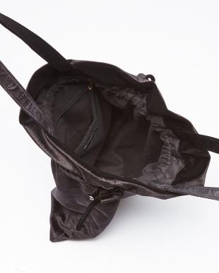 ブラック ベルベット巾着トートバッグ/Tを見る