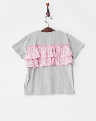 グレー バックコンシャスプリントTシャツを見る