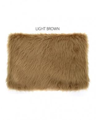 ライトブラウン BIGファークラッチを見る
