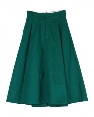 グリーン チノフレアスカート見る