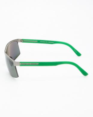 シルバー/グリーン サングラス見る