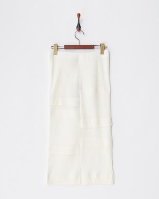 オフホワイト コットンウールダブルガーゼスカートを見る