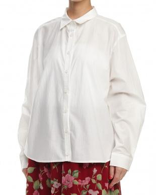 ホワイト カラーオーバーシャツを見る