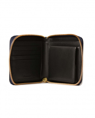 Black クレイトン社製ブライドルレザー ラウンドファスナー2つ折り財布を見る