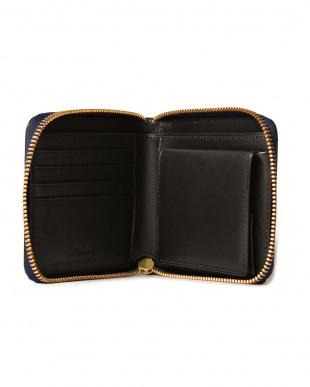 Navy クレイトン社製ブライドルレザー ラウンドファスナー2つ折り財布を見る