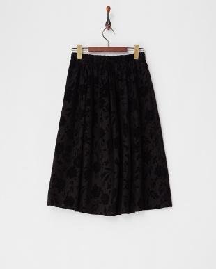 ブラック フロッキーフラワースカート見る
