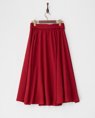ボルドー ロングギャザースカート見る