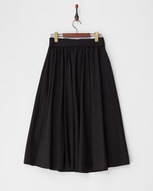ブラック ロングギャザースカート見る